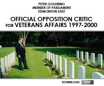 Official Opposition Critic for Veterans Affairs 1997 - 2000