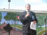 "Ride To Remember– On May 31, 2012 Peter addressed hundreds of bikers on Parliament Hill to pledge ""Never Again"" to genocide. At Peter's suggestion the riders stopped at the Afghan Repatriation Memorial in Bain Park, Trenton to honour Canada's fallen soldiers."